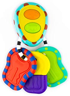 Sassy Electronic Keys | Developmental Toy for Early Learning Promotes Imaginative Play | Plays Car Sounds | Bright, Bold Colors and Different Textures | For Ages 3 Months and Up