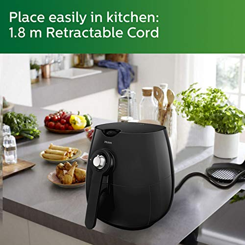 Philips Daily Collection HD9218 Air Fryer, uses up to 90% less fat, 1425W, with Rapid Air Technology (Black)