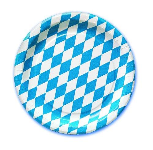 Teller Oktoberfest 23 cm Durchmesser, 10-teilig