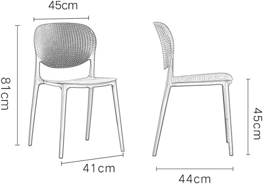 CUIS- Chaise de maquillage courbée dans le dos, chaise nordique en plastique, chaise ventilée minimaliste moderne, message publicitaire à la maison (Color : White) Light Gray