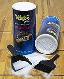 Shuffleboard Sand Powder Shuffleboard Wax Come with Mini Dustpan, Mini Brush Set, 2 Pack (14OZ 400g)