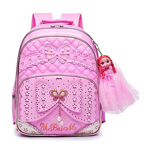 MLOPPTE Mochilas escolares para niños Mochila para niñas Mochilas para niños 2pcs / set Mochila escolar para niños Mochilas de escuela primaria impermeables rosa