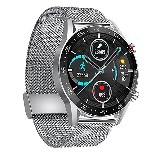 chengjinhuashangmao Pulsera de pantalla redonda inteligente recuerda el ejercicio de la velocidad cardíaca de la presión arterial Monitoreo del sueño de la llamada a la llamada Podómetro Bluetooth pag