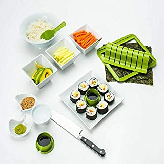 Super Easy Sushi Making Kits Homemade Sushi Tools Sushi Rolling Mat Sushi Form Rolls Slicer Rice Paddle