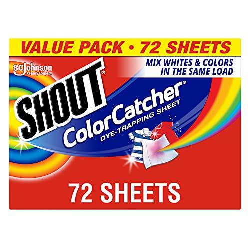 Shout Color Catcher Sheets for Laundry, Maintains Clothes Original Colors, 72 Count (0.21 Ct Color)