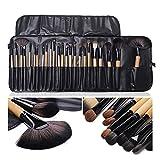 XUEXIU Bolsa de Regalo de 24 PCS Conjuntos de cepillos de Maquillaje Pinceles Cosméticos Profesionales Cepillos de Cejas Fundación Sombras Pinceaux Make up Herramientas (Color : Wooden)