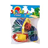 Androni- ANI4025 4 Mookie Barche da Bagno Assortiti, Colore Nd, 0763002