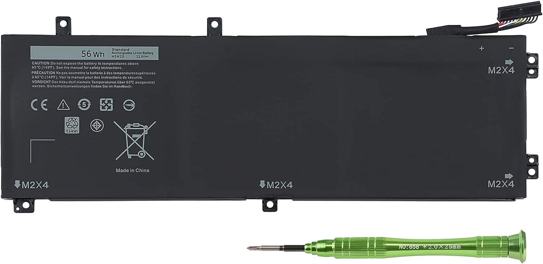 FSDUALWIN 2021 New H5H20 Laptop Battery for Dell XPS 15 9560 9570 9550 9590 Precision 5520 5510 5530 5540 Inspiron 7590 7591 XPS 15-9560-D1545 15-9560-D1645 15-9570-D1501 11.4V 56Wh