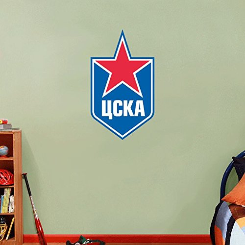 CSKA Moscow KHL Russia Hockey Logo Home Decor Art Wall Vinyl Sticker 63 x 35 cm