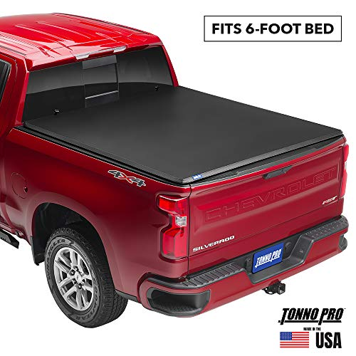 Tonno Pro Tonno Fold, Soft Folding Truck Bed Tonneau Cover | 42-512 | Fits 2016 - 2020 Toyota Tacoma w/o Ulity Track System 6' Bed