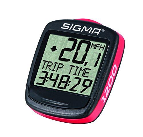 Sigma Elektro 01950 - Cuentakilómetros de ciclismo, 1200, Negro, Rojo