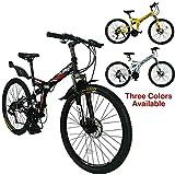 Xspec 26' 21-Speed Folding Mountain Bike for Adult