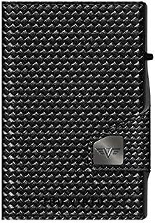 TRU VIRTU® Tarjetero Click & Slide con Monedero Diagonal Carbón/Negro l I Estuche para Tarjetas de crédito I con protecció...