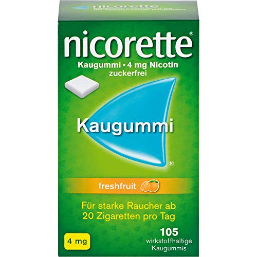 nicorette Kaugummi 4 mg freshfruit zur Raucherentwöhnung Reimport Pharma Gerke, 105 St. Kaugummi