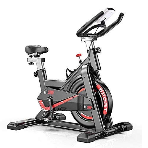 YourBooy Bicicleta Estática Profesional para Interiores, Bicicleta De Spinning, Entrenador De Cardio Ideal, con Resistencia, Función De Frecuencia Cardíaca, Pantalla LCD