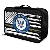 Bolsas de Maleta US Navy USS Intrepid CVS-11 Ship Veteran Travel Duffel Bag Portable Weekend Luggage Bag Backpack Funny Novelty Overnight Bag