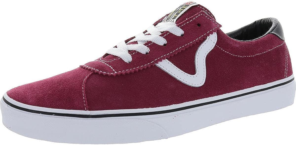 Vans Sport Men's Suede Colorblock Low Top Sneakers Red Size 7