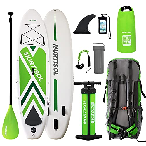 Murtisol Inflatable Paddle Board Stand Up Paddle Green