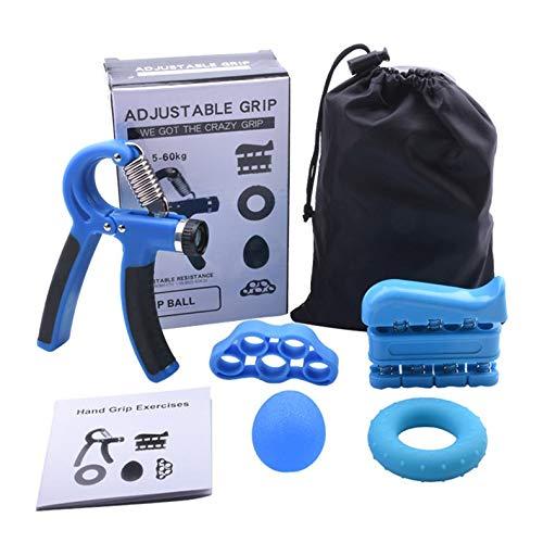 ghfcffdghrdshdfh 5Pcs/Set Hand Grip Strengthener Workout Kit Adjustable Hand Gripper Ring Multicolor