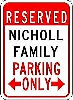 金属サインニコルファミリー駐車場ノベルティスズストリートサイン