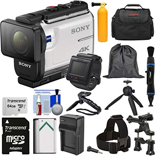 Sony Action Cam FDR-X3000R Wi-Fi GPS 4K HD Video Camera Camcorder & Remote + Mounts + 64GB Card +...