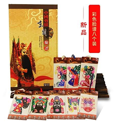 Lesezeichen aus chinesischem Papier multicolour facial design of Peking opera