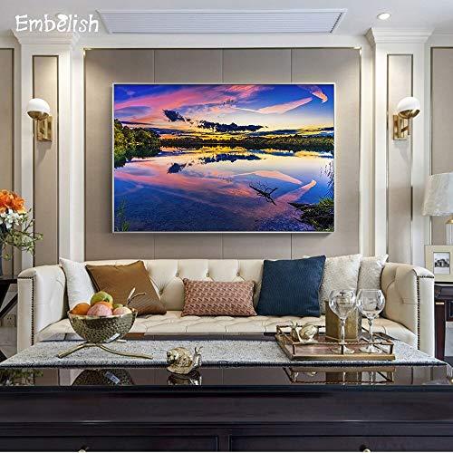 baodanla Nessuna Cornice Squisita Foto di Paesaggio di Soggiorno Moderno Home Canvas canvas60x90cm