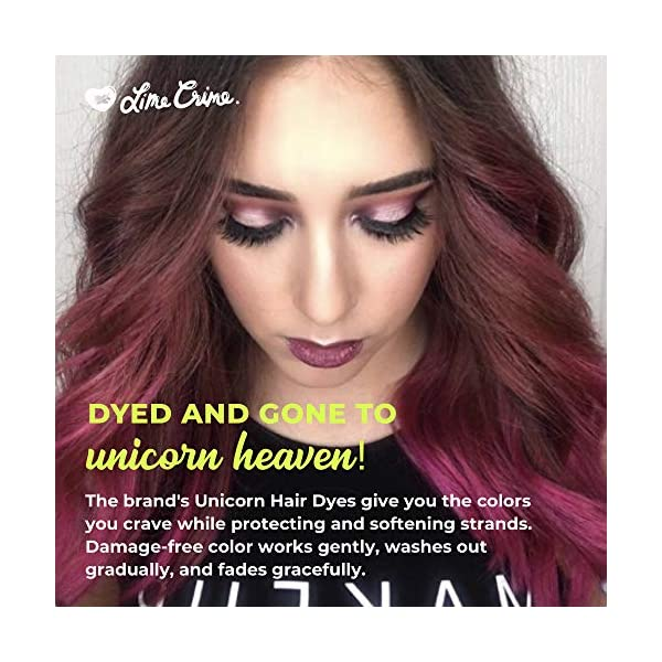 Lime Crime Unicorn Hair Dye, Chocolate Cherry - Deep Burgundy Red Hair Color - Full Coverage, Ultra-Conditioning, Semi-Permanent, Damage-Free Formula - Vegan - 6.76 fl oz 6