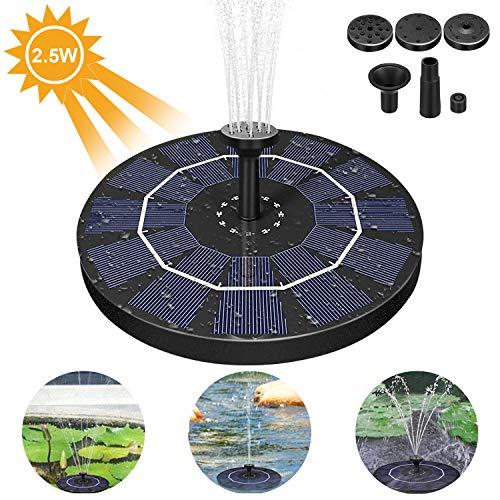 AIMTOP Solar Springbrunnen, 2.5W Solar Teichpumpe mit Solar Panel Solar Wasserpumpe Solar Schwimmender Fontäne Pumpe Solar Brunnen für Gartenteich Oder Springbrunnen Vogel-Bad Fisch-Behälter