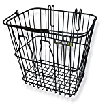 Basil Rear Milkbottle Bike Basket w/ Nylon Grip Handle - Black