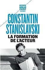 La formation de l'acteur de Constantin Stanislavski