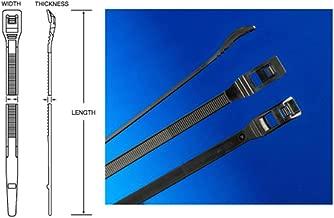 Cobra 53112 11-Inch/50-Pound Low Profile UV Zip Ties (Bag of 100)
