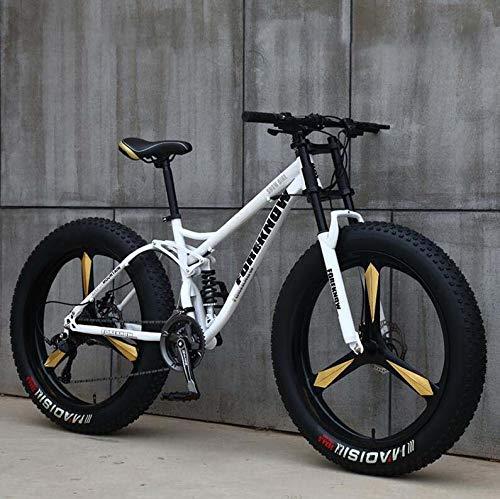 GASLIKE Bicicleta de montaña para Hombres y Mujeres, Cuadro de Acero de Alto Carbono, Freno de Disco mecánico, Ruedas de aleación de Aluminio de 26 Pulgadas
