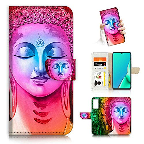 for Samsung S20 FE 4G, S20 FE 5G, Designed Flip Wallet Phone Case Cover, A23151 Abstract Buddha