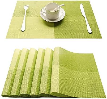 guizhoujiufu Kitchen Rare Financial sales sale Mat Dish Place Set 4 Plas Bamboo of PVC