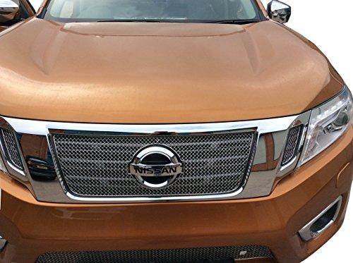 Zunsport Compatible avec Nissan Navara Ensemble calandre supérieur (NP300) - Finition Argent (2015 -)