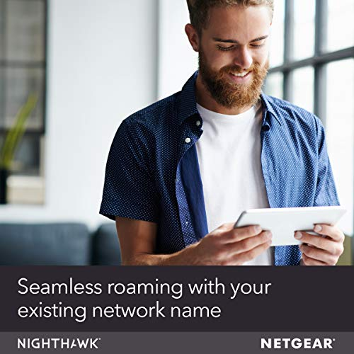 Netgear WiFi Mesh Range Extender EX7300 - Coverage up to 2000 sq.ft. and 35 Devices