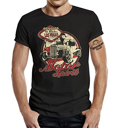Gasoline Bandit® Biker Racer T-Shirt: Motor Spirit