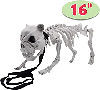 "Halloween Decoration 16"" Pose-N-Stay Puppy Skeleton Plastic Dog Bones with Posable Joints for Pose Skeleton Prop Indoor/Outdoor Spooky Scene Party Favors Décor."