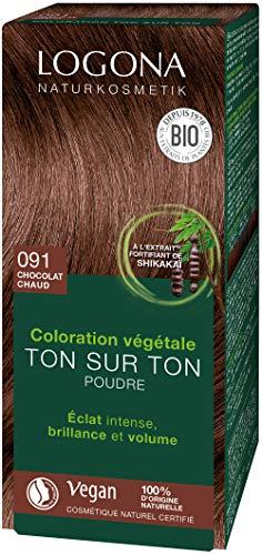 Logona Herbal Hair Color Powder, 091 Chocolate Brown