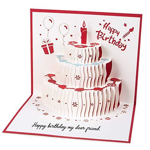Geburtstagskarte Weihnachtskarten, 3d Pop up Hochzeitskarte für die meisten Anlässe, Romantik Faltkarte Grußkarte Valentinstag Karte mit Umschlag MEHRWEG
