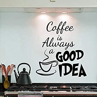 Removable PVC 35X40cm Coffee Is Always A Good Idea Wall Decals Vinyl Stickers Home Decoration DIY PVC Wall Art Living Room...