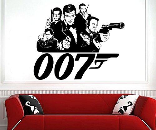 James Bond 0071962–2015DIY Wall Art sticker/Decal, Vinile, Silver, 69 x 58 cm