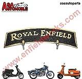 SPEEDYRIDERS New Vintage Front Mudguard Brass Black & Golden Number Plate Royal Enfield
