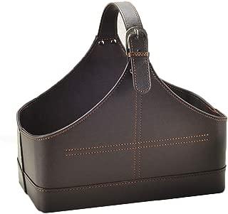 leather gift basket