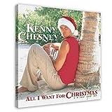 Funda de álbum Kenny Chesney All I Want for Christmas Is A Real Good Tan Album Canvas Poster Decoración de dormitorio, paisaje deportivo oficina decoración marco de regalo: 50 x 50 cm