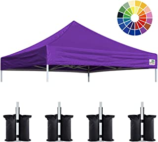Eurmax New 10x10 Pop Up Canopy Replacement Canopy Tent Top Cover, Instant Ez Canopy Top Cover ONLY, Choose 30 Colors (Purple)