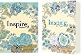 Tyndale NLT Inspire Bible (Softcover, Aquamarine): Journaling Bible with Over 400 Illustrations to Color, Coloring Bible with Creative Journal Space - Religious Gift that Inspires Connection with God