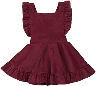 Hwaikun Toddler Tutu Dress Infant Sleeveless Vest Skirt Baby Backless Cute Romper for Girl Ruffle Skirt, Ages for 6Mos-5T