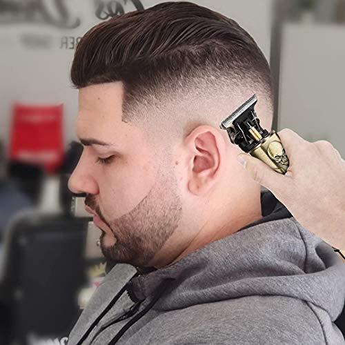 Desconocido Maquinilla de Cortar Pelo Profesional – Inalámbrica y Recargable – Recortadora de pelos – Recortadora de Barba y Nariz – Máquina de Afeitar.